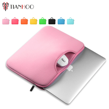 Custom logo printed promotional waterproof black neoprene 10-15 Inch laptop sleeve multi-color & size choices case