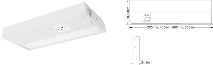 5 year warranty linkable AC dimmable LED CE ETL approved cabinet light