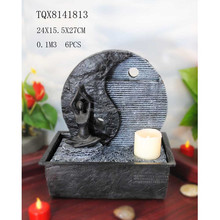 Polyresin water fountain living room decorative water fountains