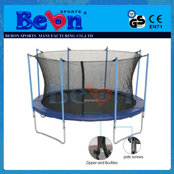 Bebon Supplies with Safety Enclosure Sports 12FT Fun Useful High Quality Outdoor Trampoline Park