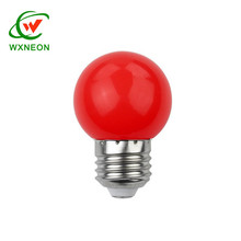 Outdoor Holiday Decoration Plastic SMD Round Opaque G45 E27 Led Color Bulb
