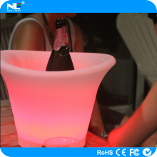 Waterproof LED ice bucket illuminated beer wine ice bucket