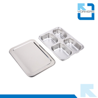 Higt quality 304 stainless steel lunch box container & stainless steel dinner plate & dishes