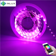 Smart phone wireless controlled SMD 5050 <strong>RGB</strong> 5m 60 leds/m wifi control multicolor full color app remote wifi led strip light kit