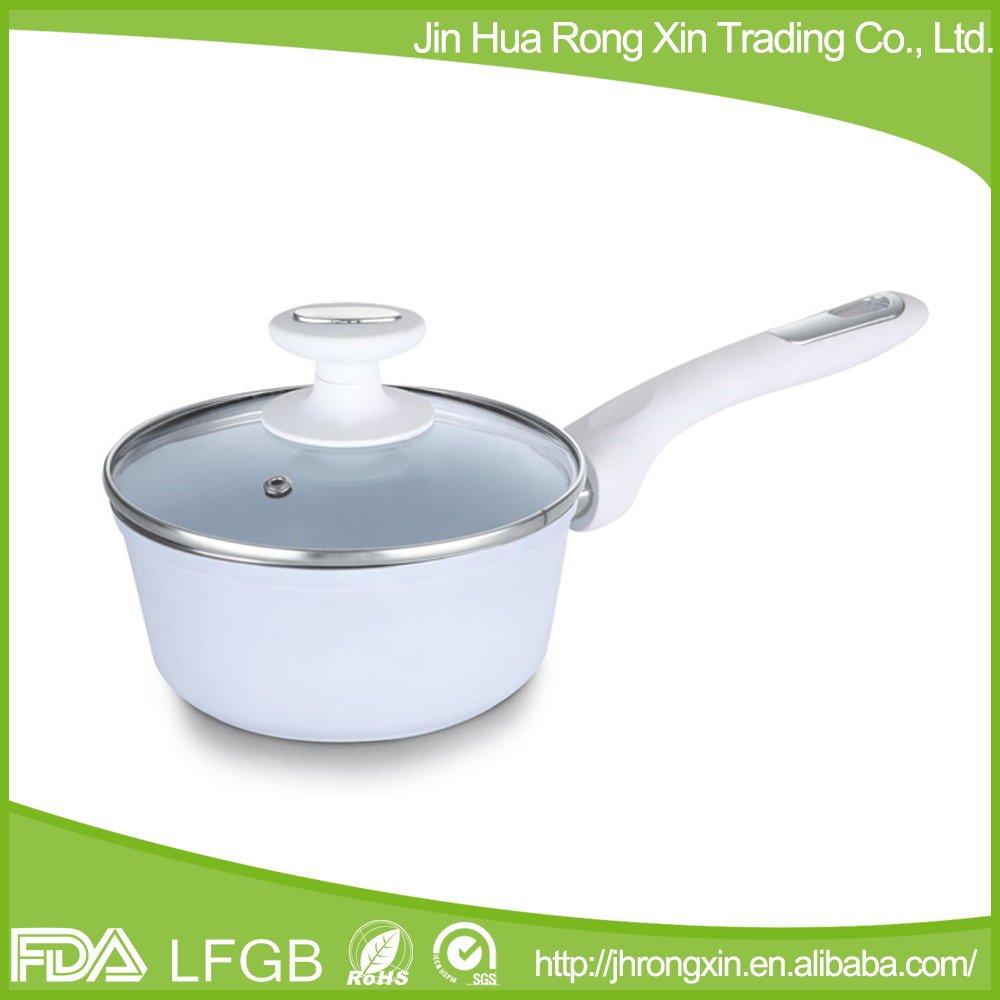 Forged aluminum white ceramic non-stick stockpot