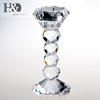 H&D Tall Crystal Candlestick Pillar Candle Holder Crystal Tealight Candle Holder For Home Decoration