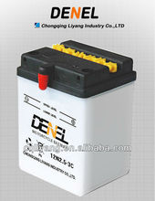 Motobike Parts/2012 Standard Dry Charged Motorcycle Rechargeable Battery 12N2.5-3C(12V 2.5AH)