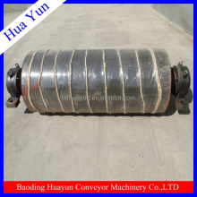 800mm rubberized return conveyor belt pulley for agricultural equipment