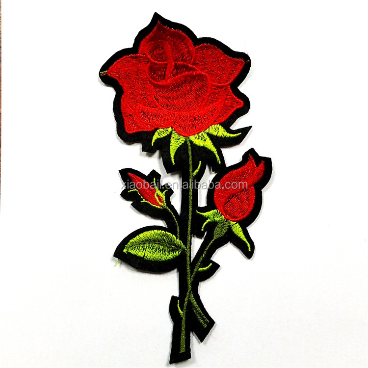 Embroidery cloth paste rose new computer embroidery cloth stickers