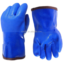 Brand MHR Fluorescent Single Dipped PVC Glove 35CM Foam Insulated Liner Smooth Finish Neon Freezer gloves
