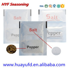Sea Salt and Pepper Sachet dual pepper salt food seasoning for catering sets