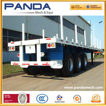 2015Top Ranking Flat Bed Trailer / Log Loader Traile with Container Locks and Removable Posts