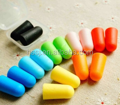 Professional ear plugs foam sleeping ear plugs in pillow box made in China