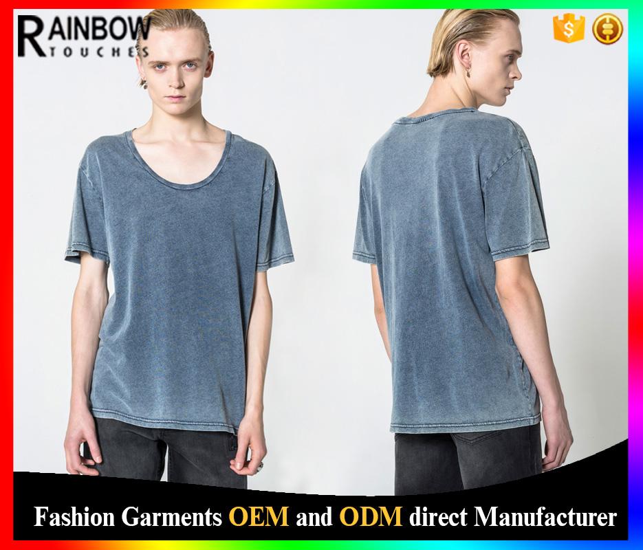 Wholesale acid wash t shirts china supplier blank t shirt for T shirt suppliers wholesale