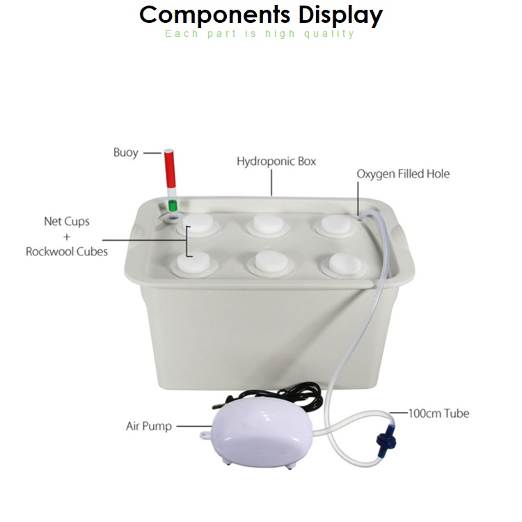 Hydroponic Dutch Bucket with 6 holes