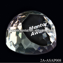 Crystal Bread Ball Paperweight Diamond Cutting