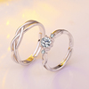 PR2532 925 plated man ring,western silver couple ring set for wedding & engagement