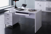 Modern style office computer desk design for two desk top computer usage
