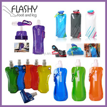 BPA Free Customized Foldable Water Bottle Collapsible Water Bottle Folding Water Bottle