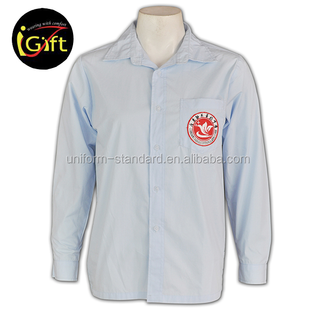 Custom Made Girl Kids School Uniform White Shirts