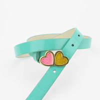 Kids PU belt in Candy Color with Oil Heart-shaped buckle