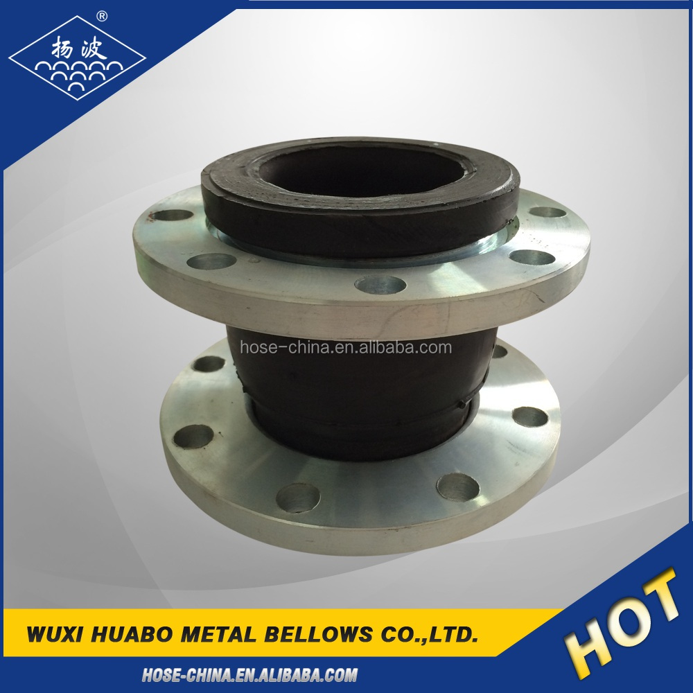 Single sphere rubber bellow expansion joint (compensator)