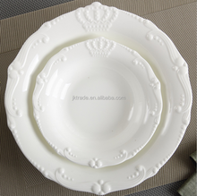 China wholesale ceramic soup plate /antique wedding embossed plate/porcelain soup plate 8