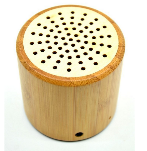 Mini usb charger portable Bamboo bluetooth speaker for mobile phone