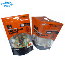 custom printed laminated multiple layer plastic aluminum foil mylar bags for ear plugs packaging