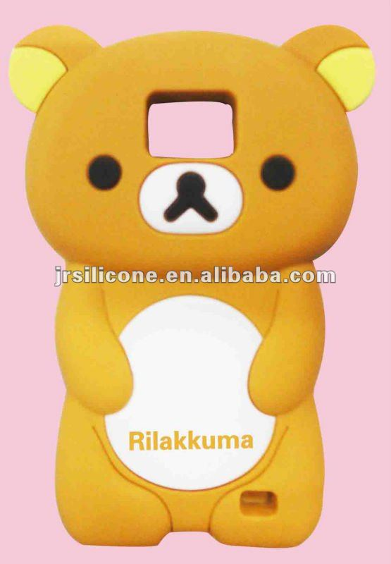 Professional silicone rilakkuma 3D case for samsung galaxy s2 i9100