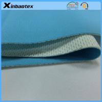 quick dry&high breathable bonding fabric 100% poly interlock+TPU film+100% poly bird-eye mesh fabric