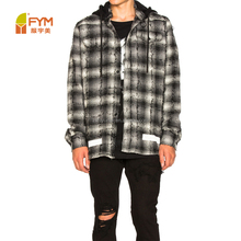 wholesales 100% cotton mens fashion design casual shirts with hoodies
