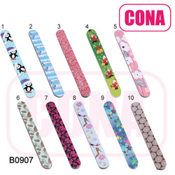 Fashion custom printed glass crystal nail files