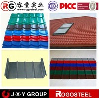 well sales zinc color coated corrugated roof sheet cheaper price