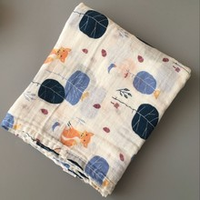 wholesale custom new design muslin baby swaddle blanket