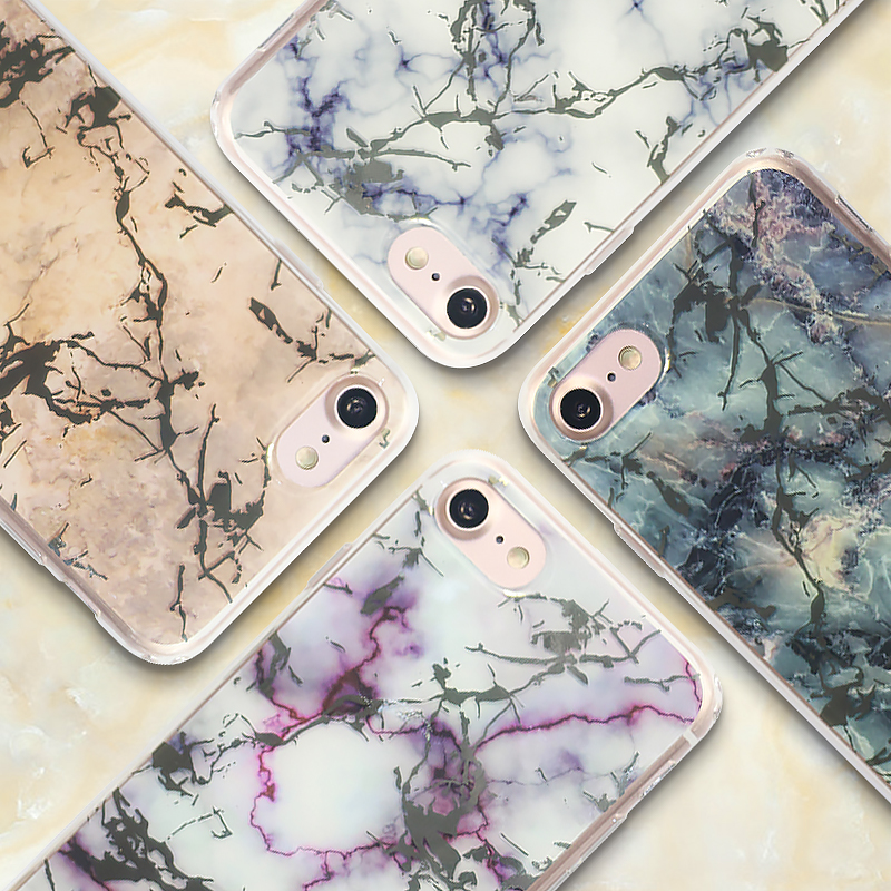 2017 Latest fashion design Hot selling custom nature marble style IMD TPU cell phone back cover case for iphone 6 6s