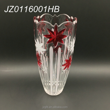 Wholesale factory price customized cylinder 23cm 28cm 34.5cm crystal glass vase for home and wedding decoration