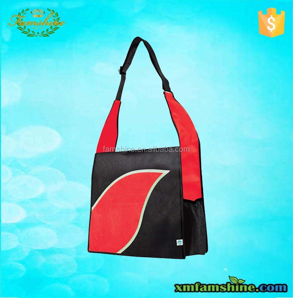 Hot sale college non woven shoulder bag