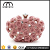 Alibaba China Wholesale Ladies Wedding Clutch Bag Popular Rose Flower Evening Bag QR1920