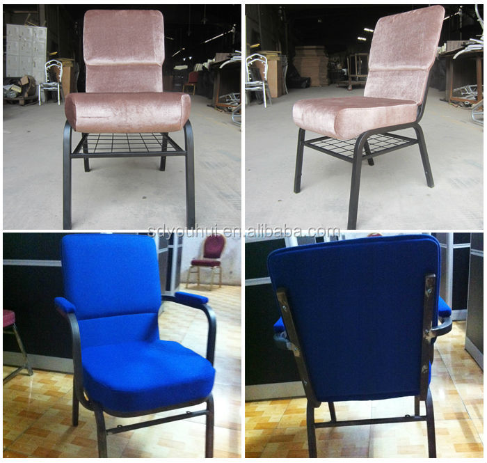 Fashionable durable steel tube Material church chair