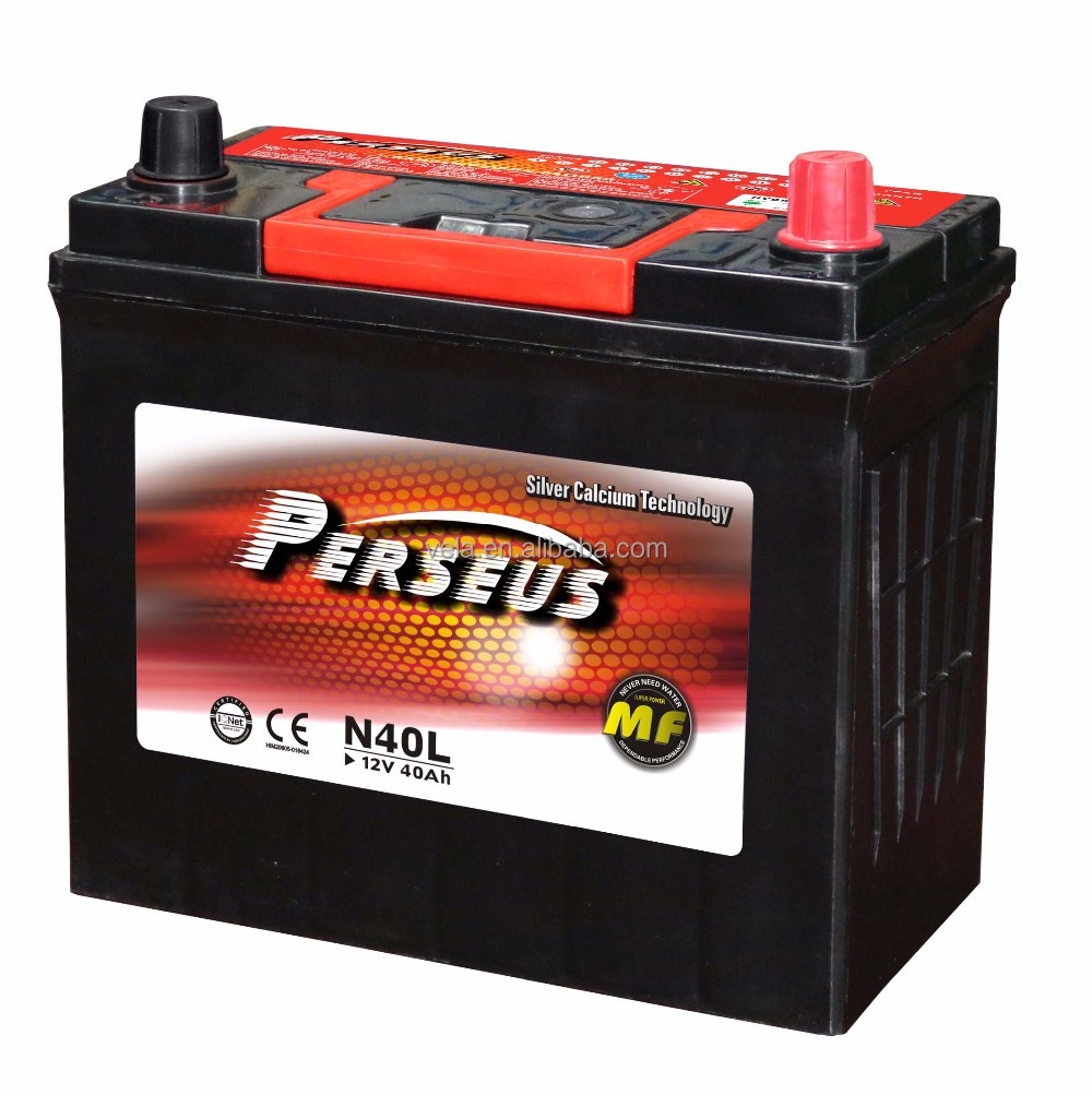 Perseus amaron battery 12v 40ah battery N40 for used cars in south korea
