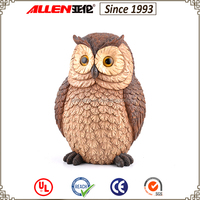 High quality wood carving articles custom size garden owl ornaments