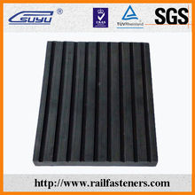 China manufacturer shanghai railway rubber track pad