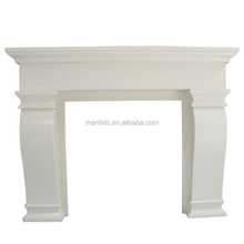 Man made micro marble fireplace mantel