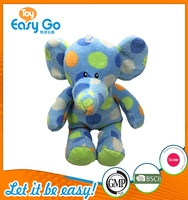 Customized blue cute spotted elephant plush toys