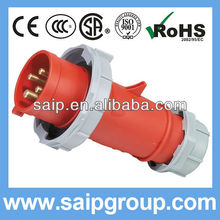 2013 New 32A 400V industrial plug switch socket outdoor waterproof IP67