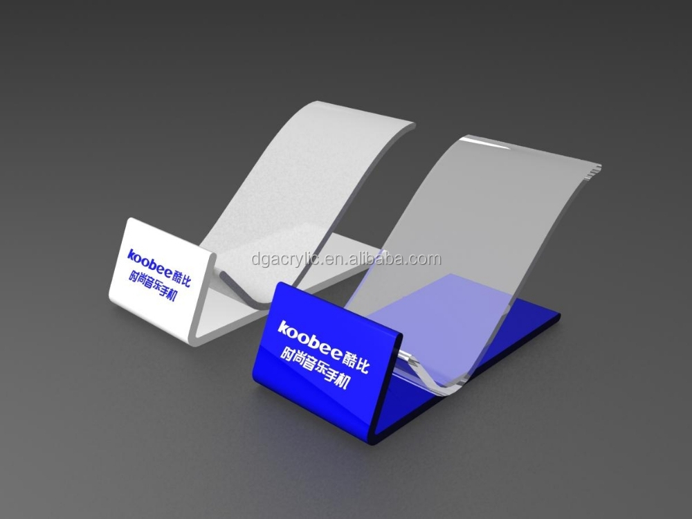 HOT selling custom clear acrylic desktop mobile phone stand/acrylic phone holder