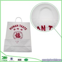 Alibaba 10years' factory produce hard loop plastic handle shopping plastic bags