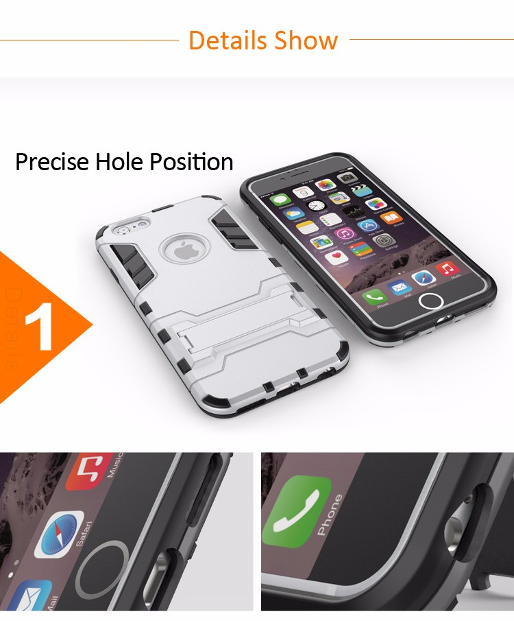Luxury 360 tpu pc kickstand handy original cell phone case back cover for iphone 6 with logo,for iphone 6s,for iphone 6s plus