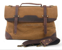 Vintage Canvas Leather Messengers Bag For Men